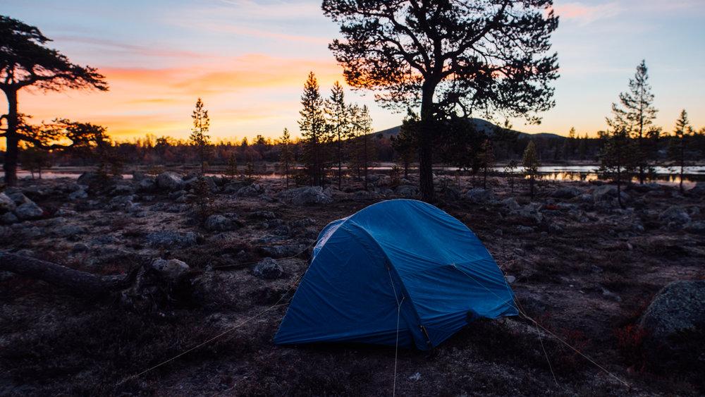 The new campsite.