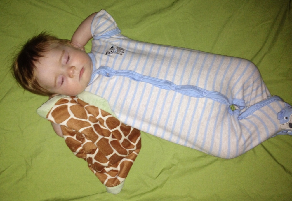 Sleeping soundly in his favorite position at 6 months old