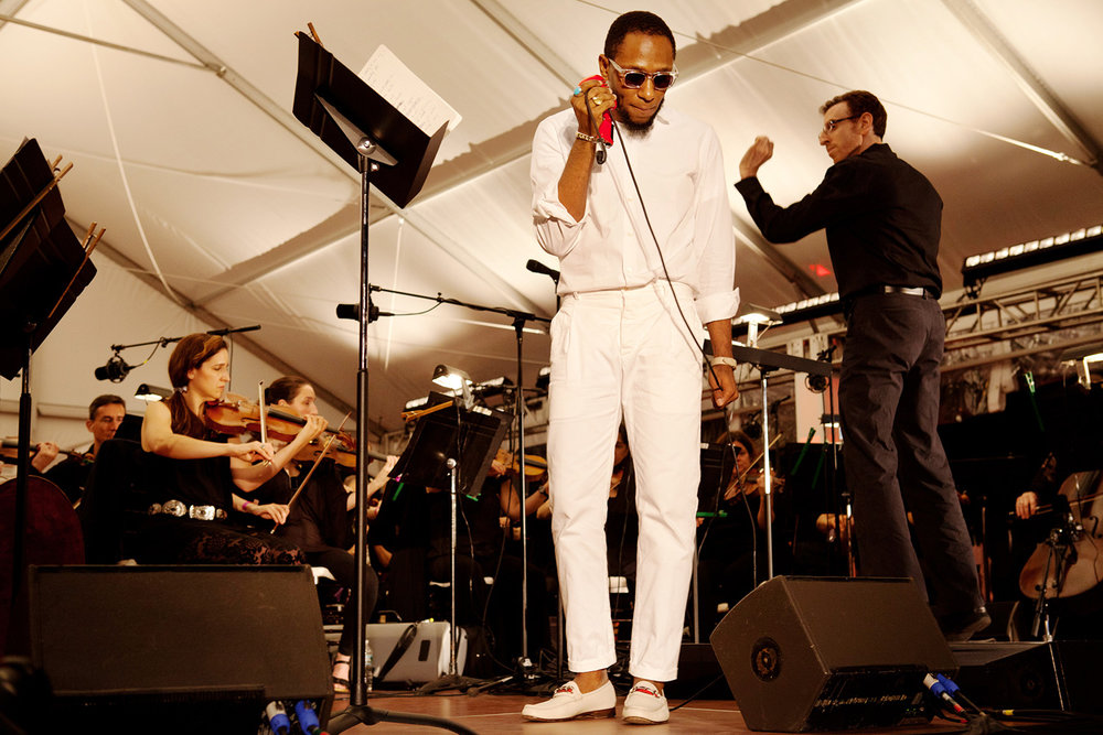 Yasiin Bey aka Mos Def with the Brooklyn Philharmonic