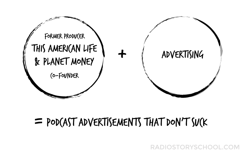 Documentary style advertisements for podcasts