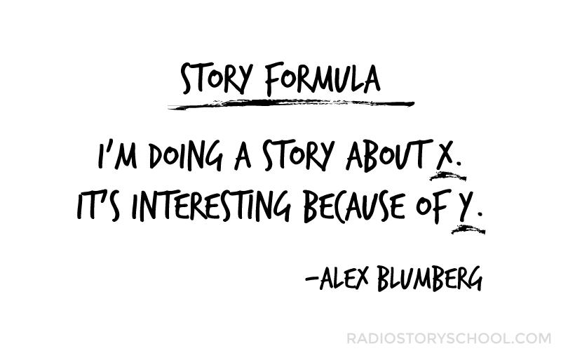 Alex Blumberg Story Formula