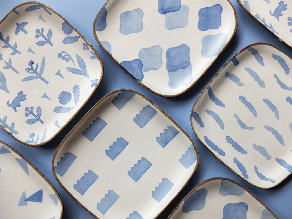 YOKO KATO square plate blue wide.jpg