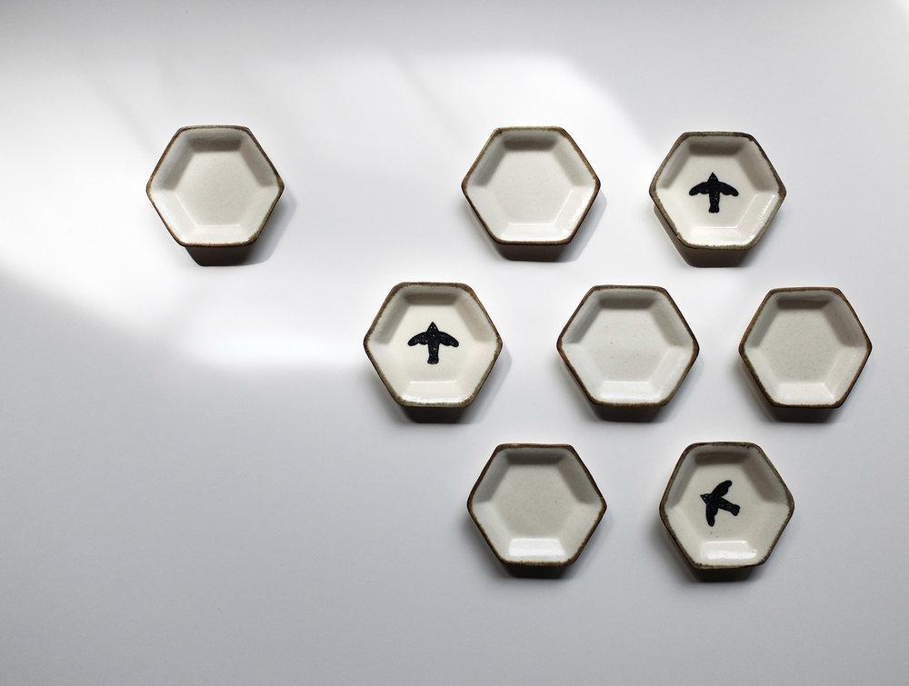 HERE & FAR Yoko Kato Mini Dish Hexagon.jpg