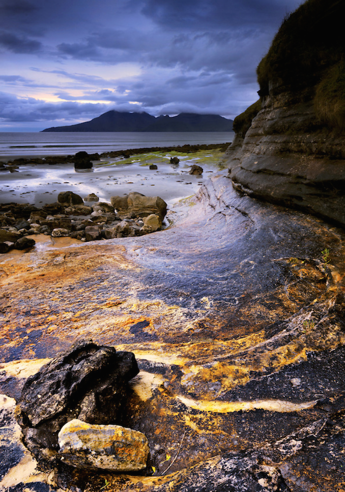 Rum and rock from Laig bay, by Damian Shields