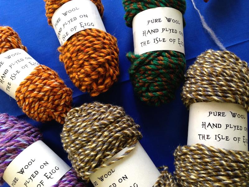 Hand spun Eigg wool by A'Nead Knitwear