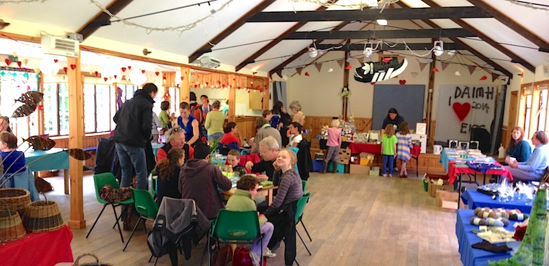Monday market in Eigg Community Hall