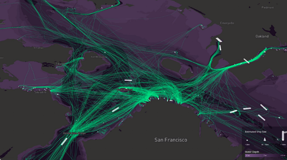 traffic heatmap of veichles and pedestrians in San Francisco