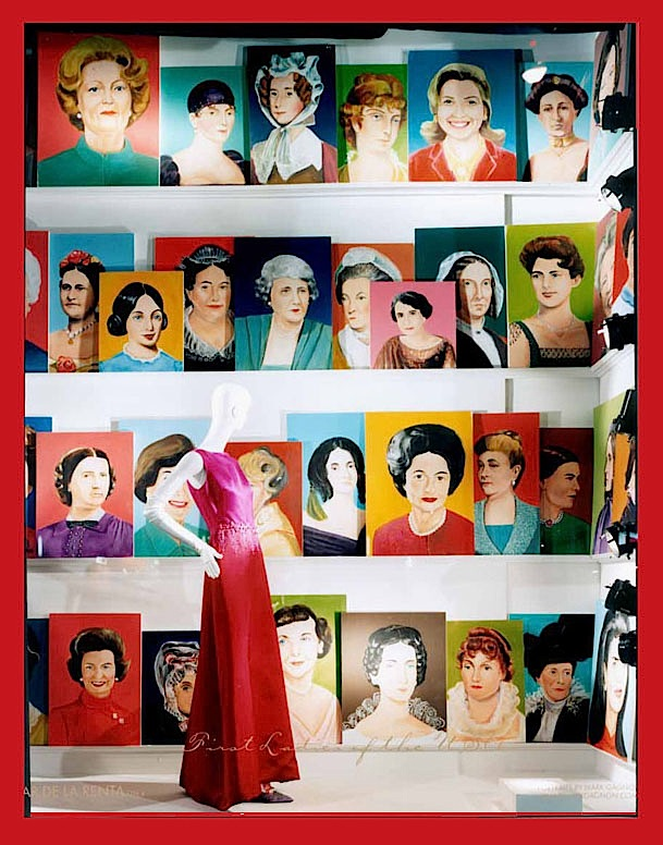 """First Ladies"" series, paint on foam core - 2008"