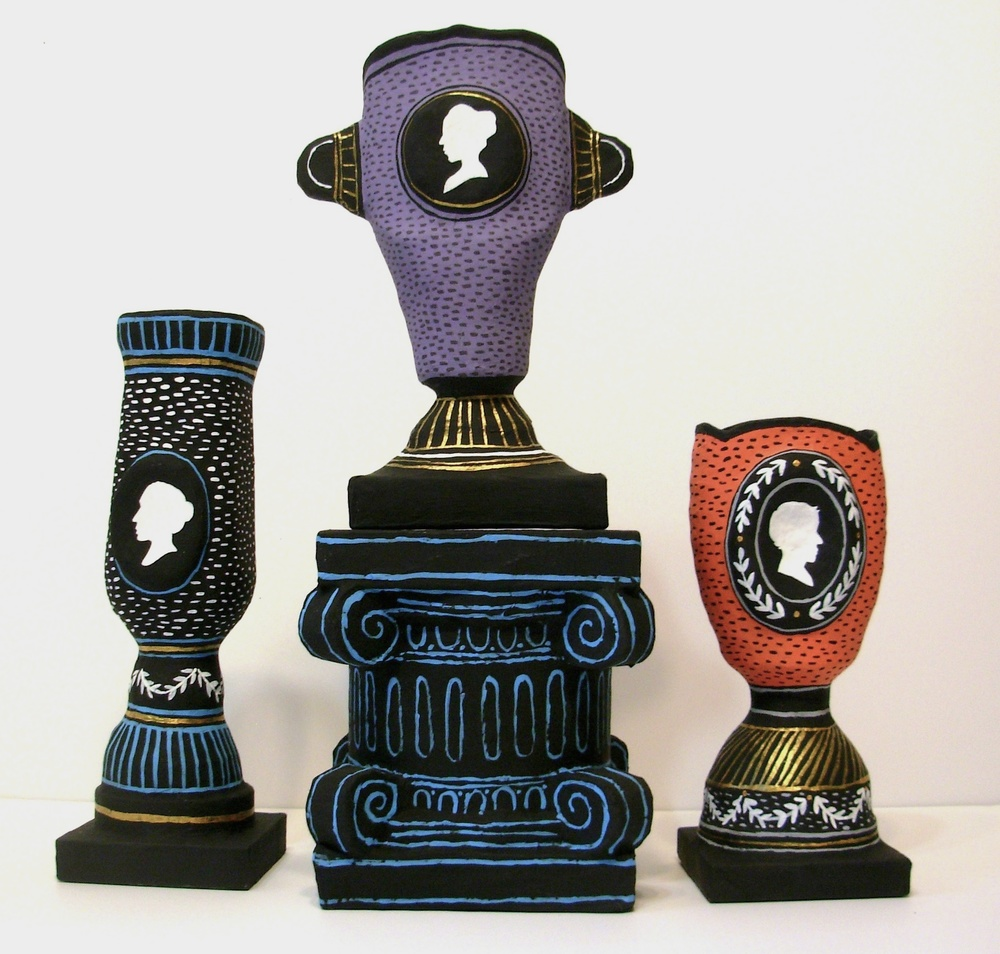 Silhouette vase series