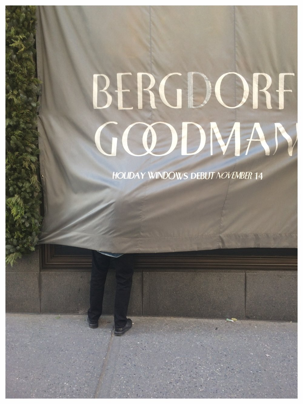 David Hoey, Bergdorf's creative genius taking a peek.