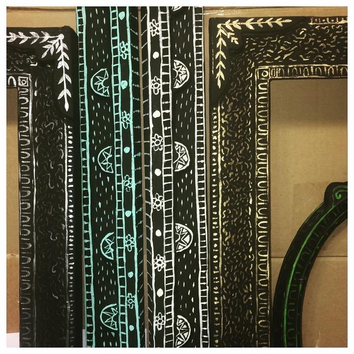 Detail of paper mach frames