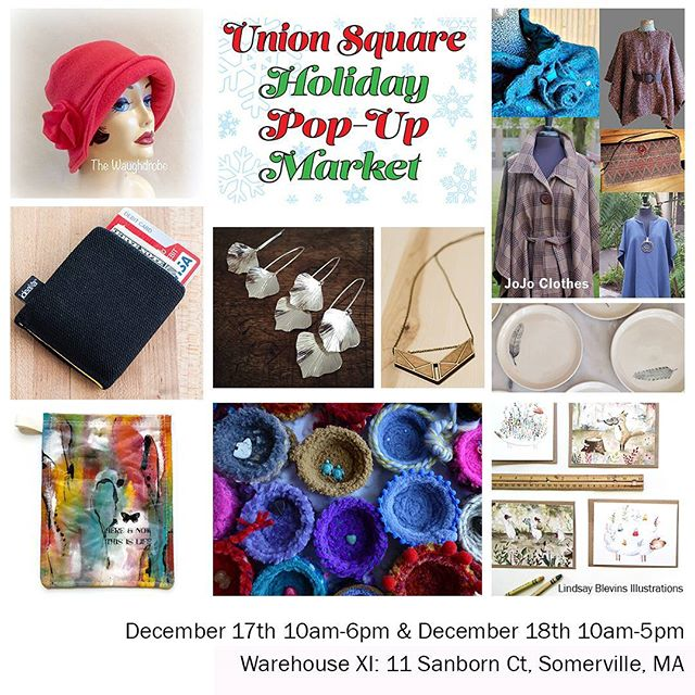 Support your local artist community and shop local for your holiday gifts this year! We'll be at the Union Square Holiday Market all weekend with some of our favorite people ❤@justenoughnonsense @thebunkerfarm @shortcakescraps @arbalest_press❤ We've got the goods for everyone on your list! 🎁🎄❄