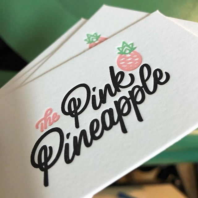Babies are neat and all, but I've been a busy bee designing things, too! Loving how this hand drawn logo came together for @thepinkpineappletampa. Thanks @kimmysucks for engaging me on this and @monpetitpaperco for bringing the creative to life. Can't wait to check out this new spot in Tampa next time I visit my sis or get tattooed by @davidbruehl.