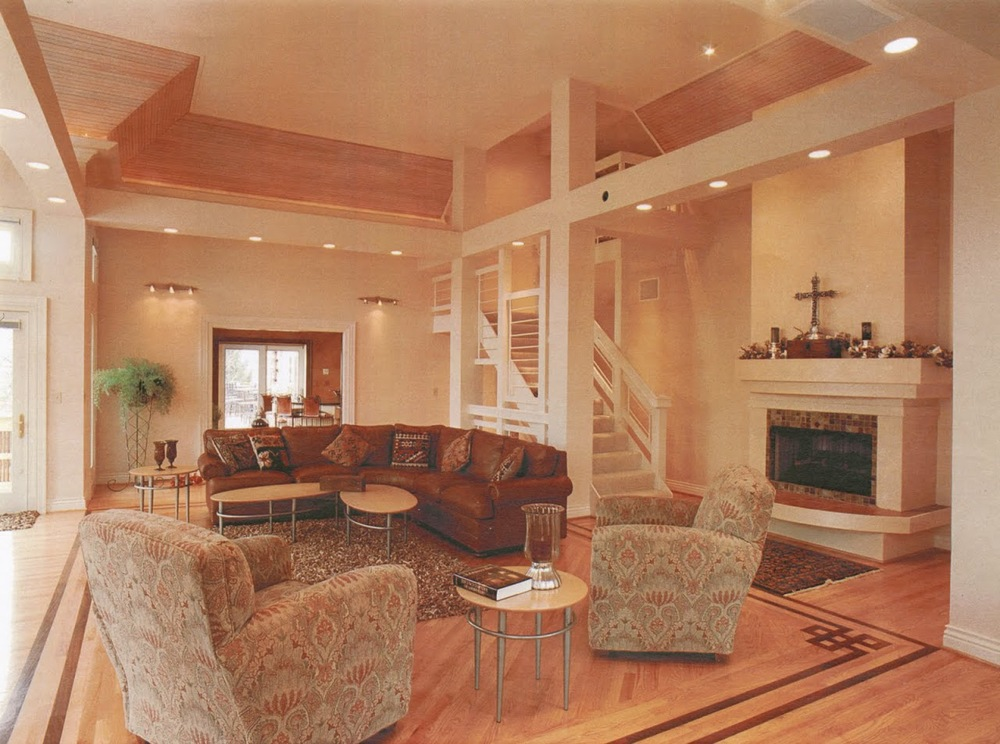 Addition: stairs and fireplace