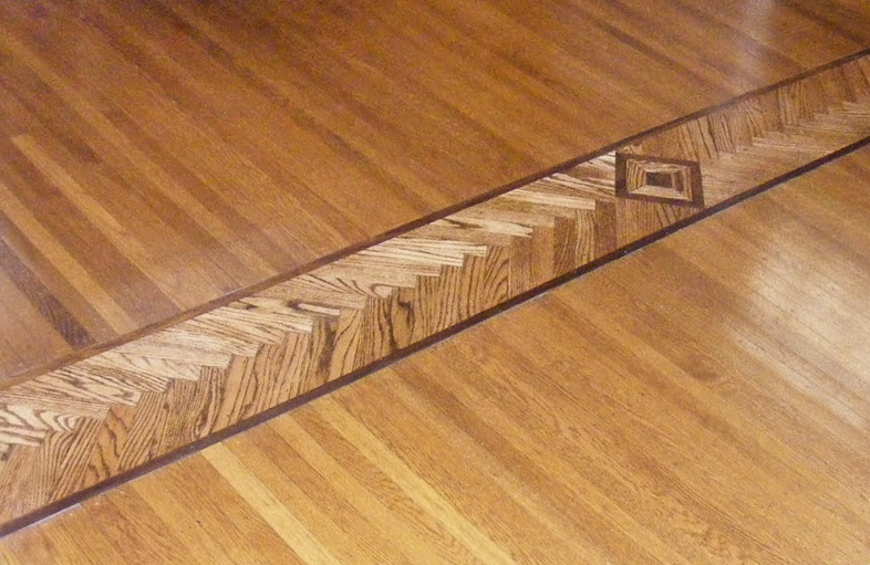After: floor inlay detail