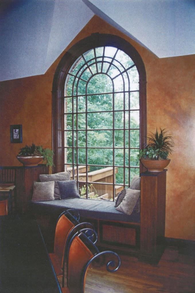 Addition: window seat overlooking deck