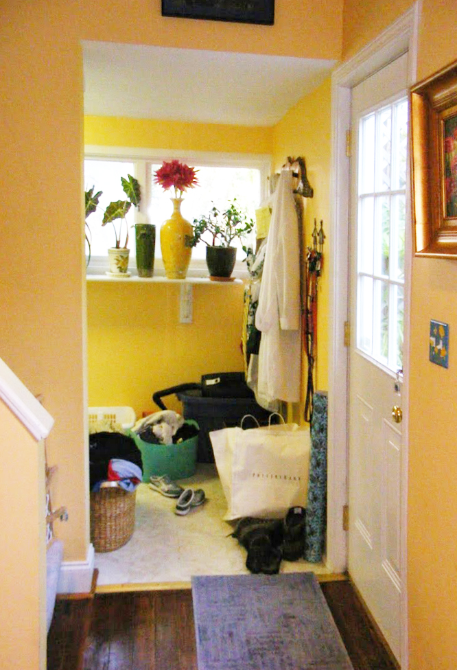 Before: view kitchen to laundry