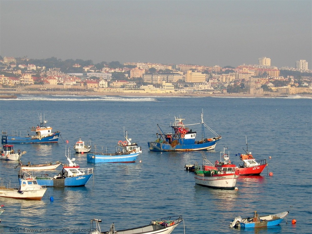 Fishermen boats at bay, Cascais