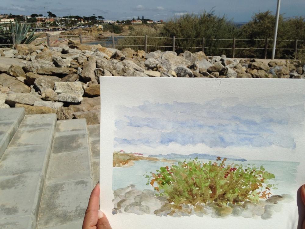 Encontro de Pintura na Ponta do Sal - Cascais  12 de Agosto