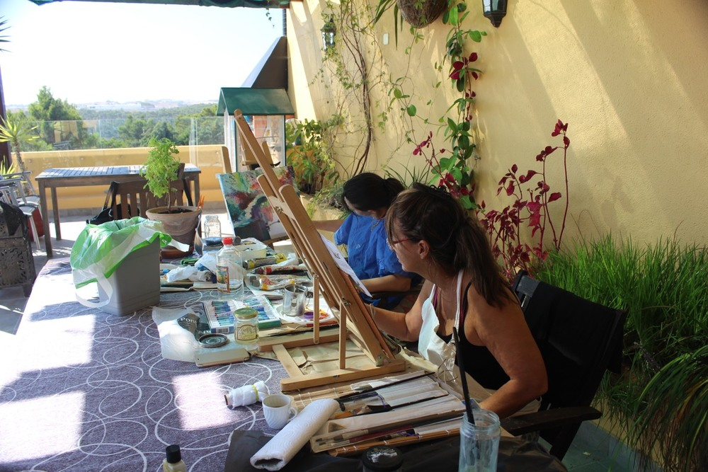 Painting Meeting at Claudia´s House - Algés 201509