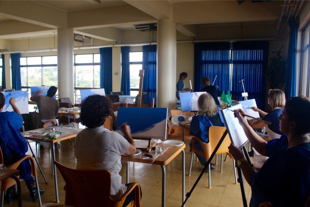 Workshop Pintura 5 Nov - Paint in Portugal - All Blue