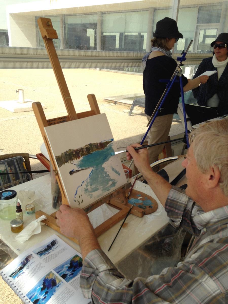 Painting Meting at Ponta do Sal, Cascais 20160317