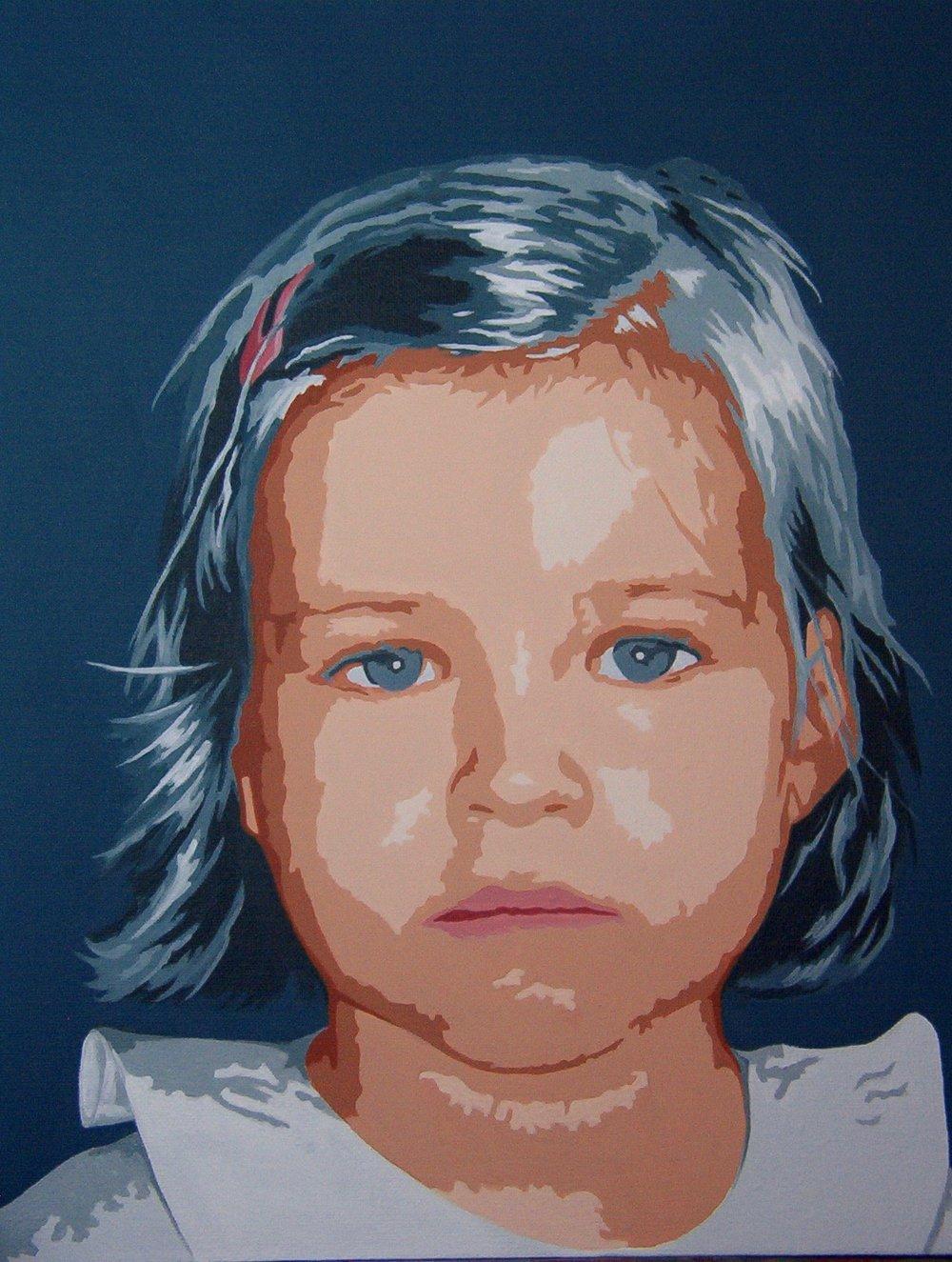 Little girl, acrylic, Ana Margarida