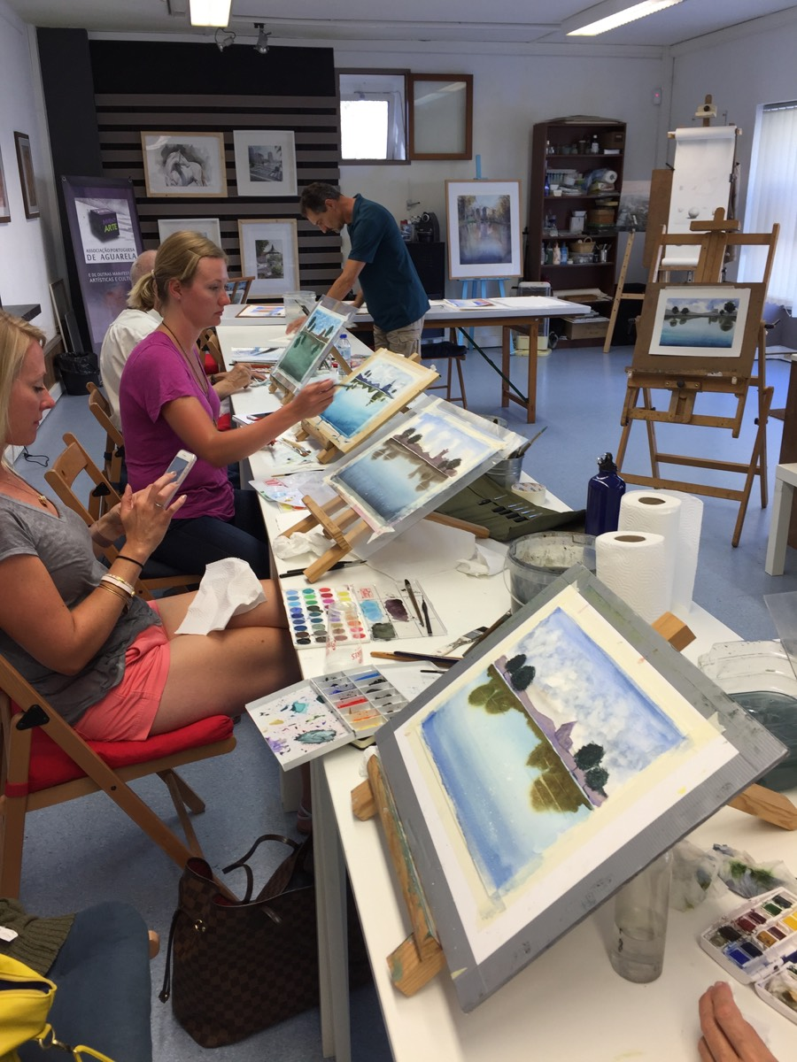 Watercolor Workshop with the artist Carlos Marques
