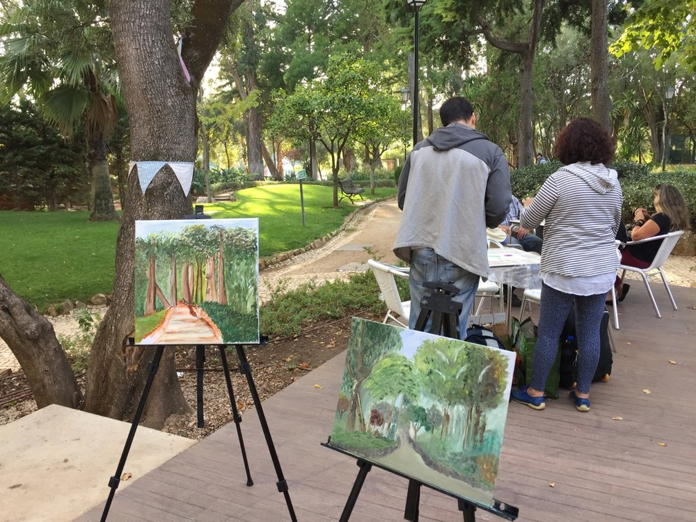 Painting Meeting in Marechal Carmona Park - Cascais 20161019