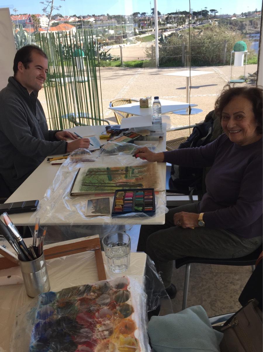Encontro de Pintura na Ponta do Sal -  Cascais - 18 de Janeiro