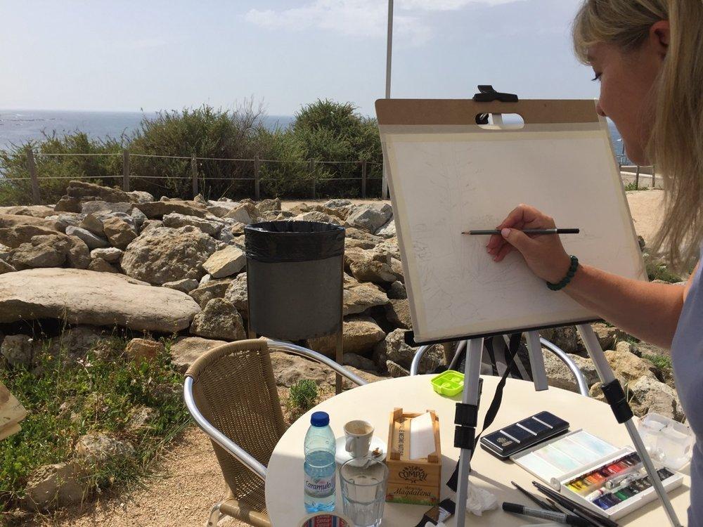 Painting Meeting at Ponta do Sal