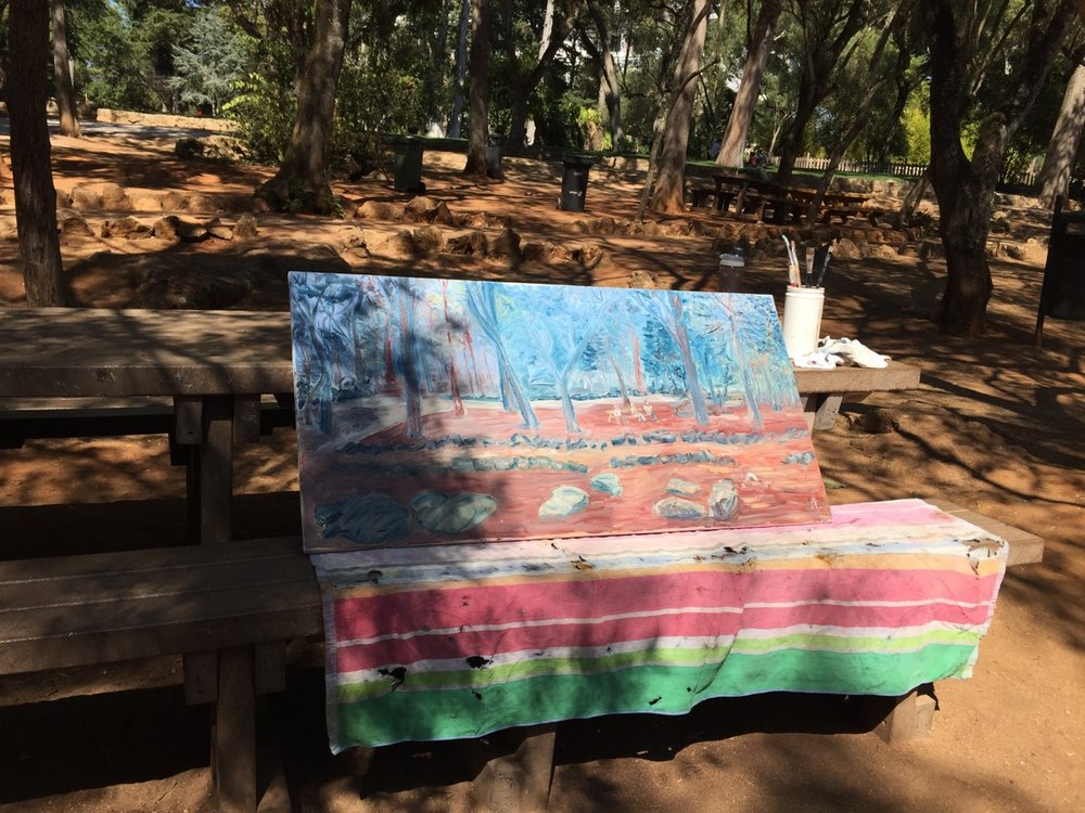 Painting meeting in Parque Marechal Carmona 20170906