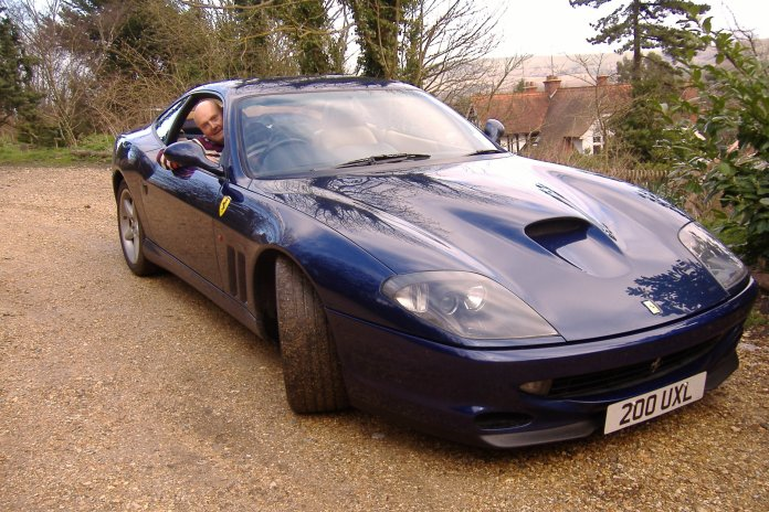 "This one is a Ferrari 550 - looks beautiful but it was a cross between Raquel Welch (should I say Kate Moss these days) and a tractor - doing 150 mph ""agriculturally"" is an interesting experience!"