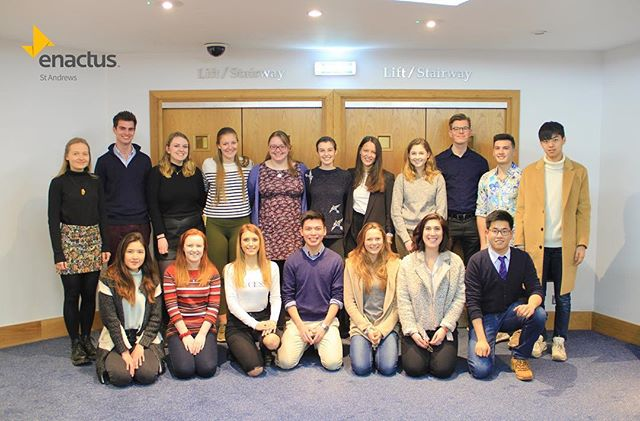 Delighted to announce the new Enactus St Andrews team. We aspire to bring changes.