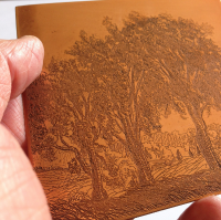 The copper plate was developed as a line etching by Jack and he pulled  a few trial proofs in his own studio.