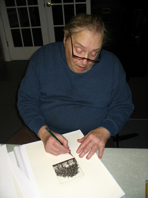 Signing the edition, April 27, 2005.