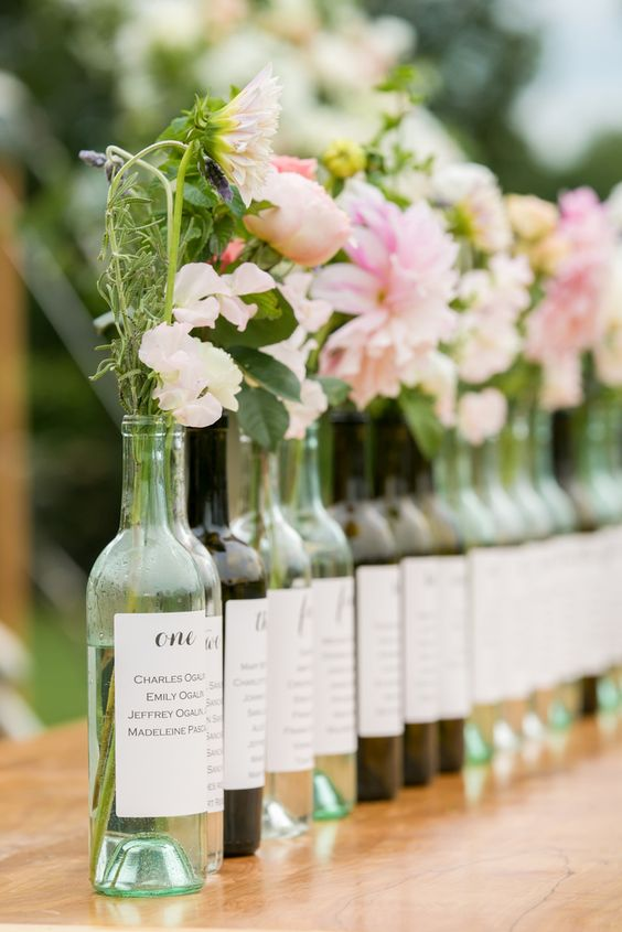 Place Card Wine Bottle