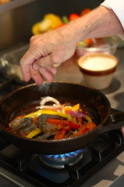 Trusted for centuries, and with no fear of heat limits: solid, seasoned, natural cast iron