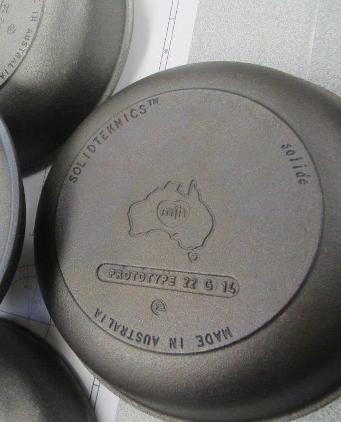 Only the Kickstarter edition will be cast with 'FIRST EDITION' in place of 'PROTOTYPE' (regular retail produciton will be cast with 'CAST DATE'). We're making collectible cookware history for our Kickstarter backers!