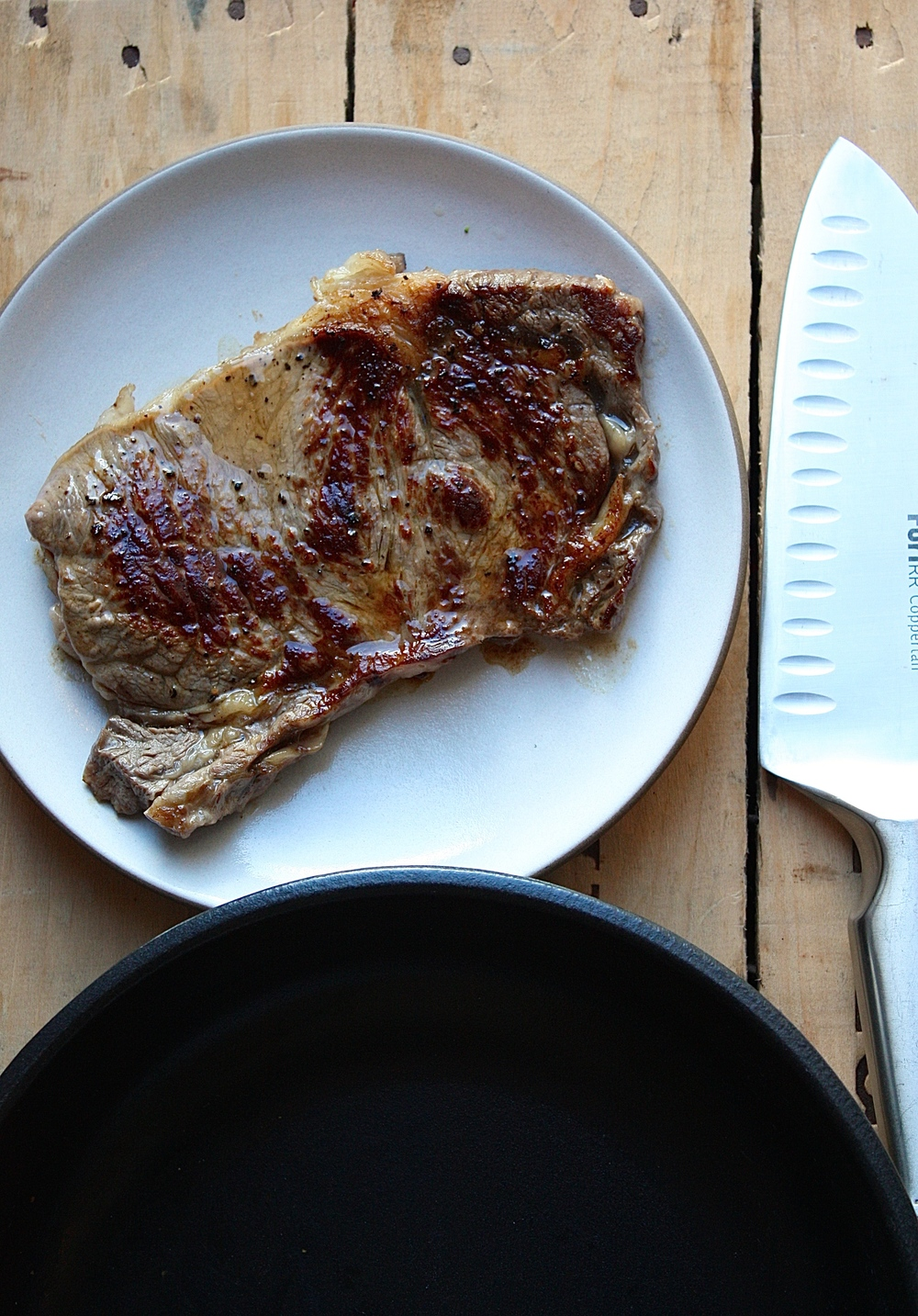 After:  Crusty, juicy steak