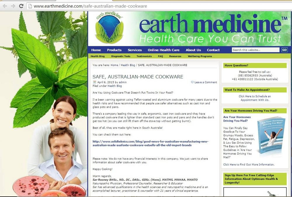 http://www.earthmedicine.com/safe-australian-made-cookware