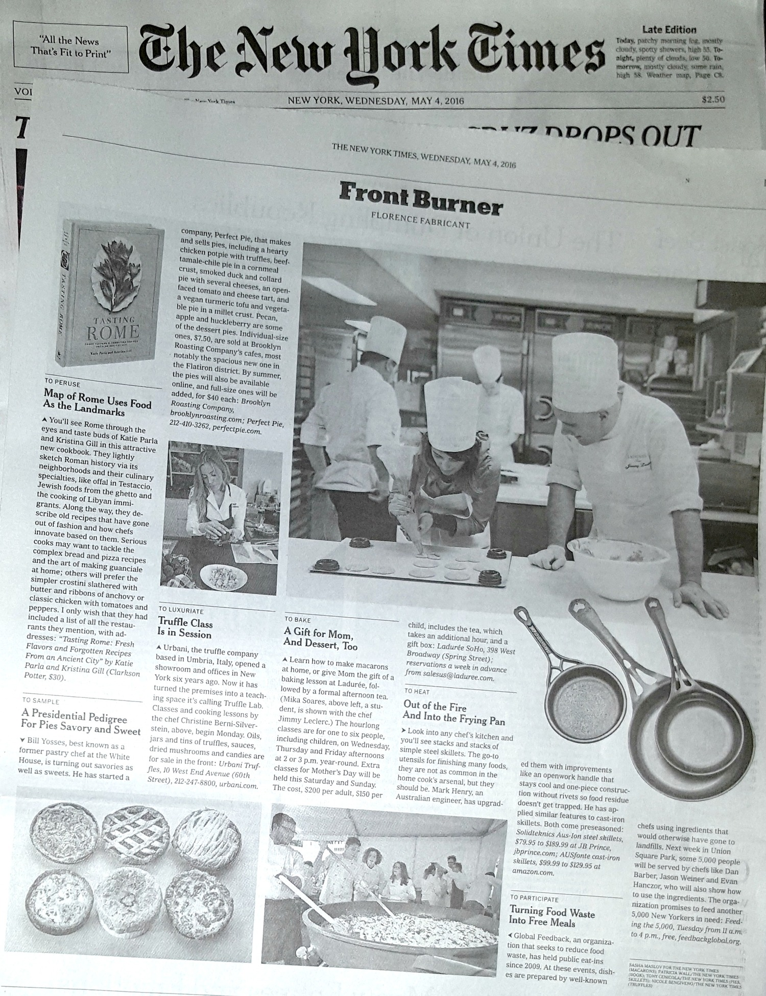 New York Times covers our Australian iron cookware