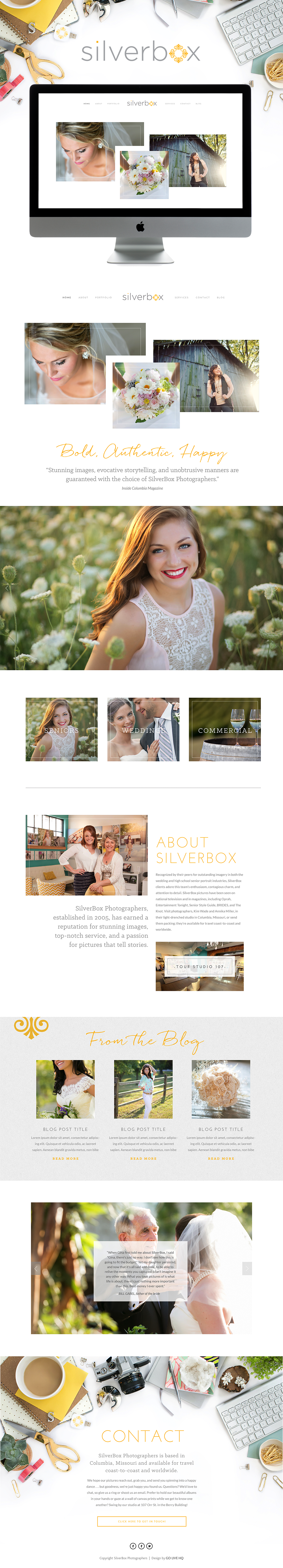 Charming high-end Squarespace website design | Design by: Go Live HQ
