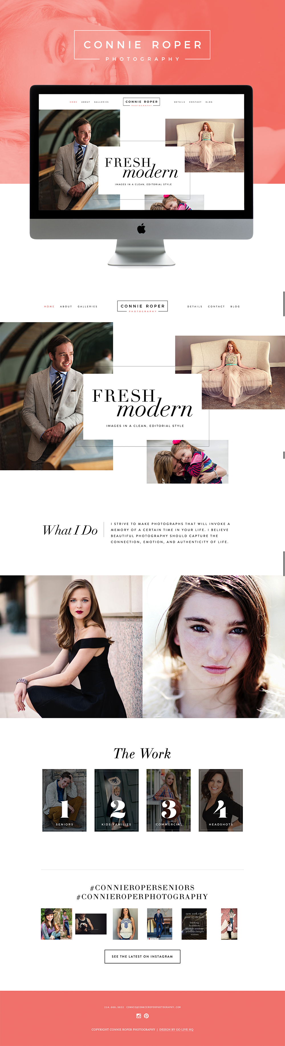clean editorial squarespace website design | by: golivehq.co