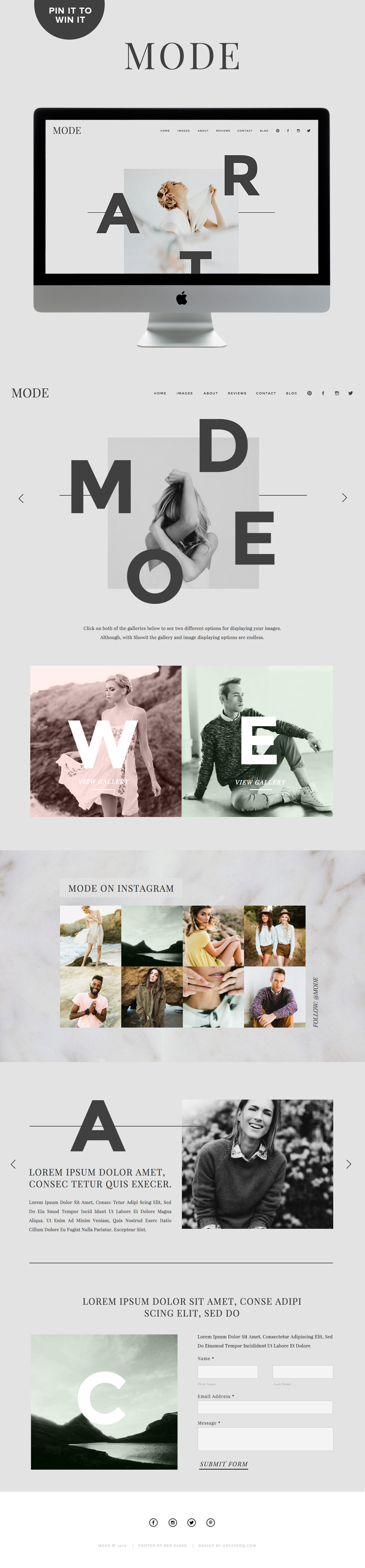 Showit5 website theme inspiration | by GOLIVEHQ.CO