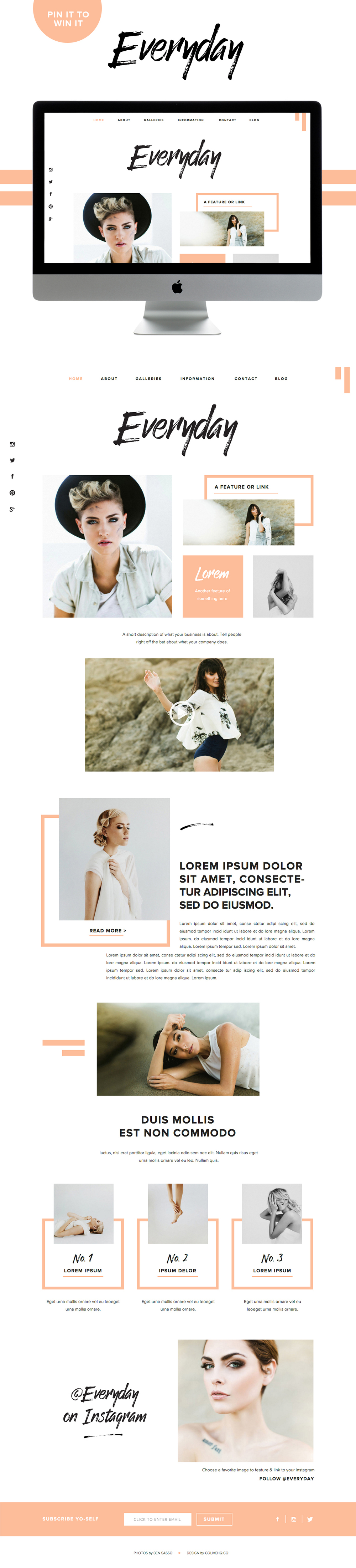 modern website showit5 inspiration  |  BY GOLIVEHQ.CO
