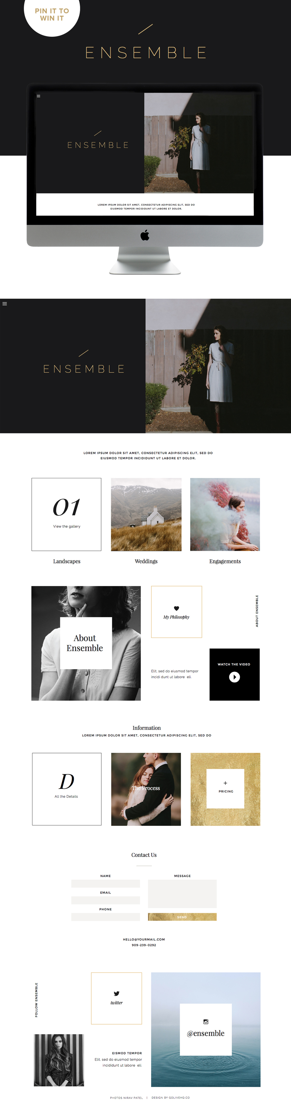 modern showit5 website inspiration by golivehq.co