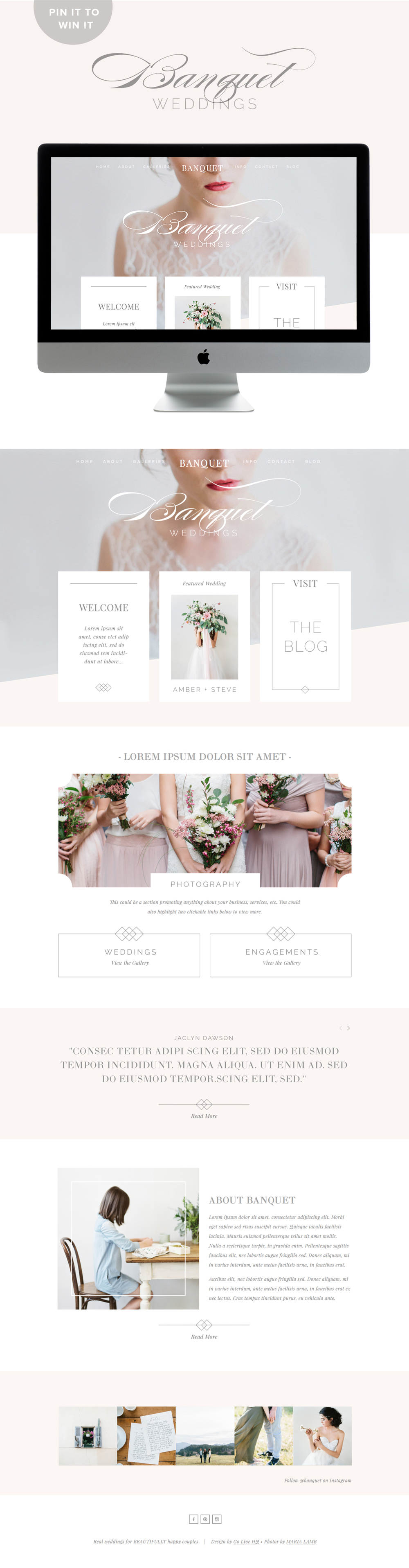 pretty modern squarespace template by golivehq.co