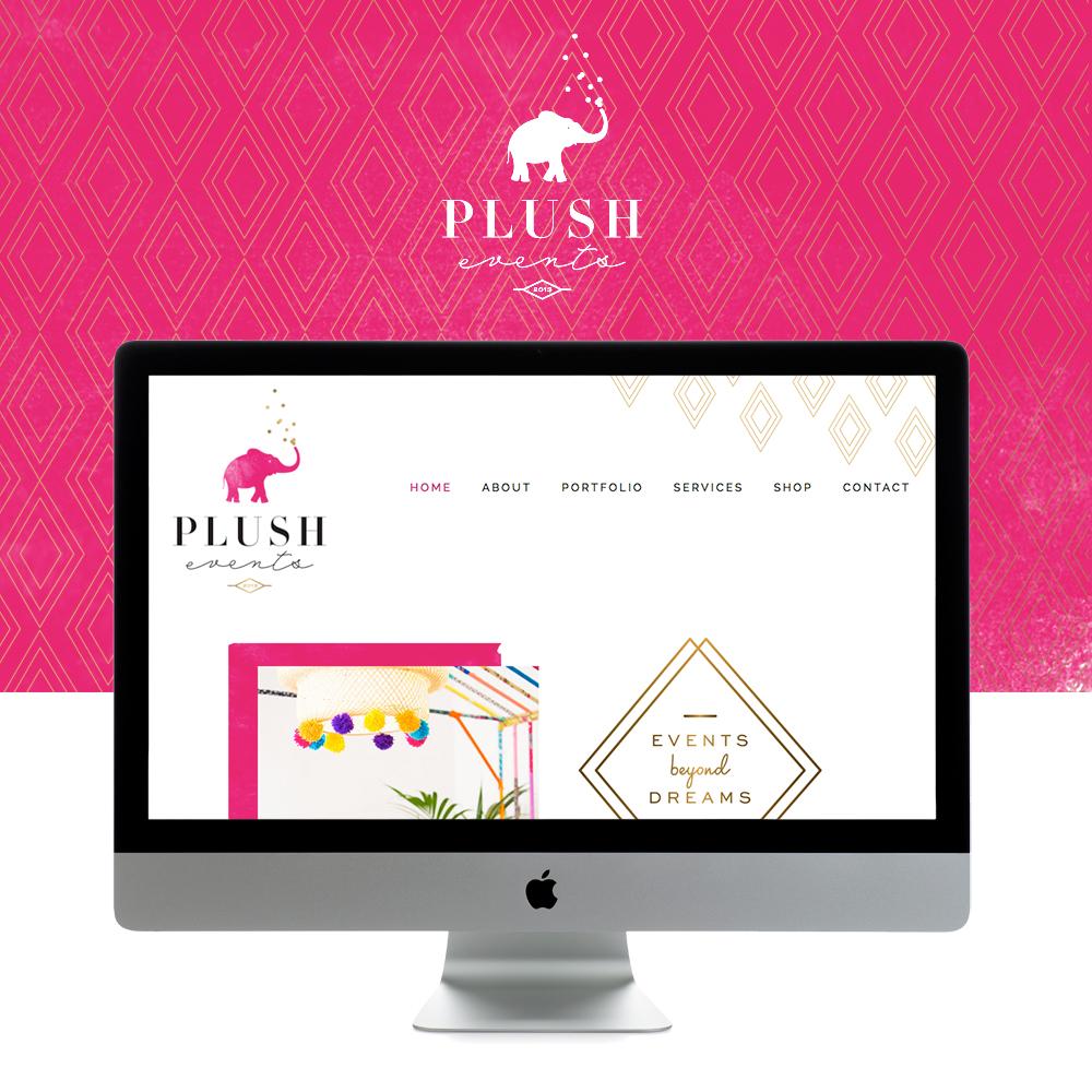 plush events is live on squarespace go live showit squarespace