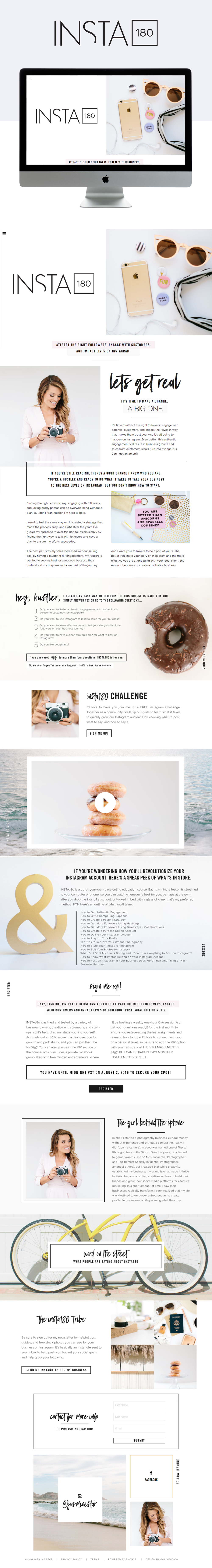 clean, minimal & lifestyle showit website design | designed by: golivehq.co
